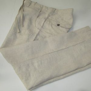 Old Navy 100% Linen Beige Pants - Size Large